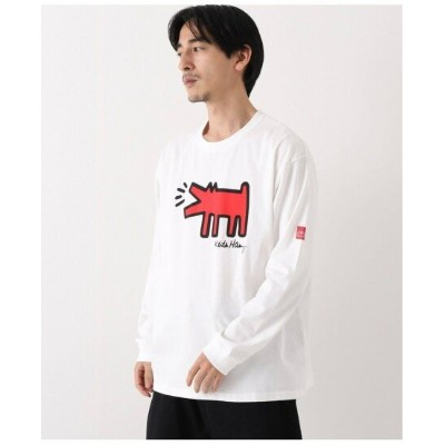JOINT WORKS 【ManhattanPortage*Keith Haring】プリントロングTシャツ ジョイントワークス カットソー Tシャツ ホワイト【送料無料】
