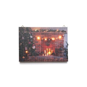 【30%OFF】クリスマスアート Fireplace & Tree S
