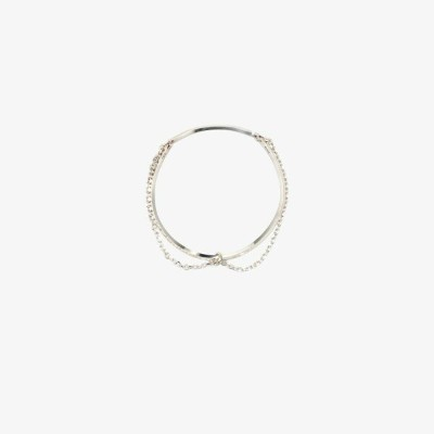CC-Steding メンズ ネックレス チョーカー ジュエリー・アクセサリー【sterling silver wire chain choker necklace】silver