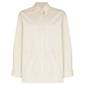 Lemaire LEMAIRE TOP SHRT CN LS DBL LAYER CRPPD O - ニュートラル