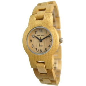 テンス 時計 腕時計 木製 Tense Maplewood Round Bracelet Unique Rare Wood Watch L7103M