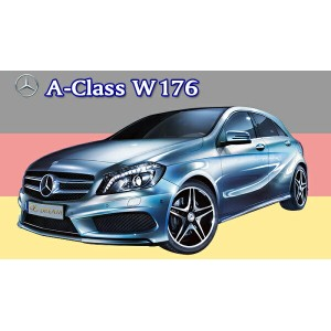 Mercedes-Benz A-Class W176 専用フロアーマット+ラゲッジマットセット YMAT500