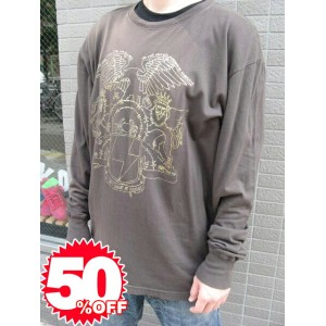 ★Special Sale!! 50%OFF!!★ freshjive kingster l/s shirts brown l
