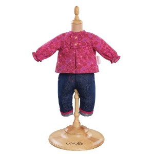 "コロール ドールファッション Corolle Mon Premier Grenadine Blouse and Denim Pants for 12"" Doll Fashions"