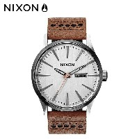 NIXON ニクソン 腕時計 時計 42mm A105 SENTRY LEATHER メンズ 【CLEARANCE】