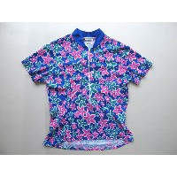 ■USA製iron girlサイクルジャージ女性(M)花柄BYCYCLE JERSEY