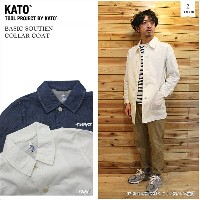 KATO' DENIM(カトーデニム)BASIC SOUTIEN COLLAR COAT 2color ステンカラーコート