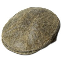 New York Hat(ニューヨークハット)ハンチング #9255 ANTIQUE LEATHER 1900, Brown