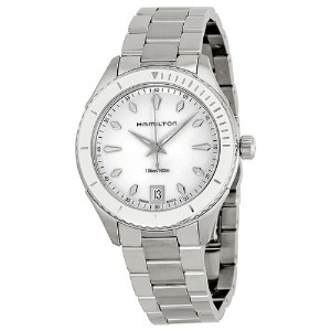 ハミルトン レディース 腕時計 Hamilton Seaview White Dial Stainless Steel Ladies Watch H37411111