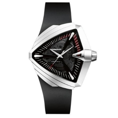ハミルトン ベンチュラ メンズ 腕時計 Hamilton Ventura XL Automatic Black Dial Mens Watch H24655331