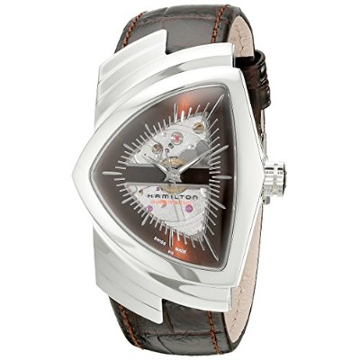 ハミルトン ベンチュラ メンズ 腕時計 Hamilton Men's H24515591 Ventura Analog Display Automatic Self Wind Brown Watch