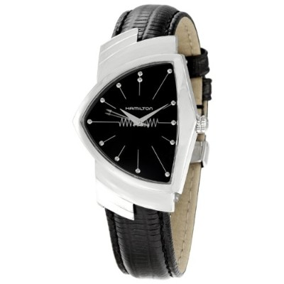 ハミルトン ベンチュラ メンズ 腕時計 Hamilton Mens H24411732 Ventura Analog Display Quartz Black Watch