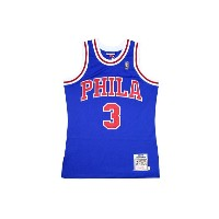 MITCHELL&NESS AUTHENTIC THROWBACK JERSEY (1996-97 Philadelphia 76ers/Allen Iverson : BLUE)ミッチェル&ネス...