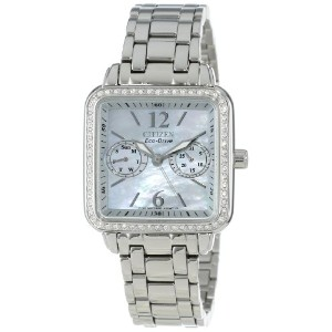 """Citizen シチズン レディース腕時計 Women's FD1040-52D Eco-Drive """"Silhouette"""" Stainless Steel Swarovski Crystal..."""