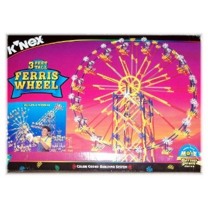 ケネックス ブロック おもちゃ 遊園地 観覧車 K'nex 3 Feet Tall Ferris Wheel - Builds 3 Models Including Swing Ride and...