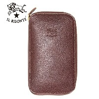 IL BISONTE ラウンドファスナー長財布 イルビゾンテ 長財布 財布 ウォレット 牛革 男女兼用 411345 BROWN/BLACK/ヌメ/NAVY【正規取扱店】【送料無料】【4色展開】