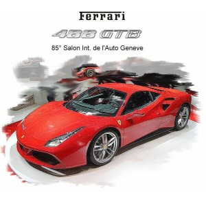 Ferrariフェラーリ 488 GTB 85th GeneveAuto Show 2015 Metallic red rosso corsa322 488台限定 /BBR1/18 レジンミニカー