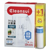 CP205W-WT 三菱レイヨンクリンスイ ポット型浄水器【CP205WT+交換カートリッジセット】1.3L Cleansui SURALI(スラリ) [CP205WWT]【返品種別A】