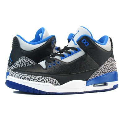 NIKE AIR JORDAN 3 RETRO 【SPORT BLUE】 ナイキ エア ジョーダン 3 レトロ BLACK/BLUE 136064-007
