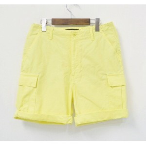 【中古】 PHENOMENON (フェノメノン)COLOR ARMY SHORTS カラーアーミーショーツ カーゴショートパンツ 6ポケットハーフパンツ ミリタリー短パン M LT.YELLOW