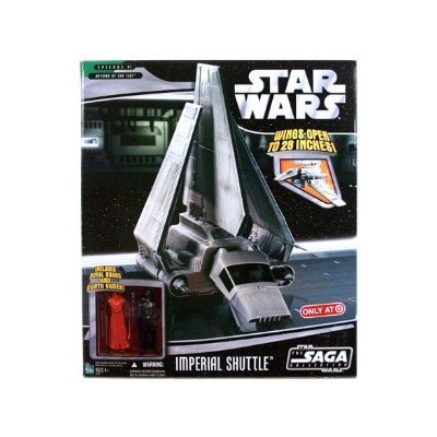 Star Wars Saga '06 Exclusive Vehicle Imperial Shuttle with Darth Vader & Red Royal Guard Action Fi