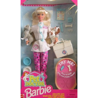 Barbie バービー Pet Doctor Doll w Cat & Dog & Accessories (1996 人形 ドール
