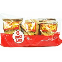 Trader Joe's 【トレーダージョーズ 釜揚げポテトチップス with シーソルト 6袋入り】KETTLE COOKED POTATO CHIPS WITH SEA SALT
