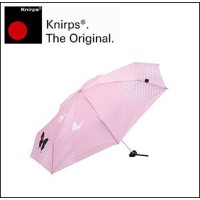 Knirps(クニルプス) 折りたたみ傘 手開き Piccolo 7 Butterfly (Pink)