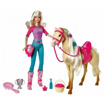Barbie Doll and Tawny Horse Playset