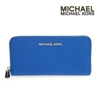 マイケル マイケルコース MICHAEL Michael Kors Jet Set Travel Zip Around Continental Wallet(ElectricBlue)●...