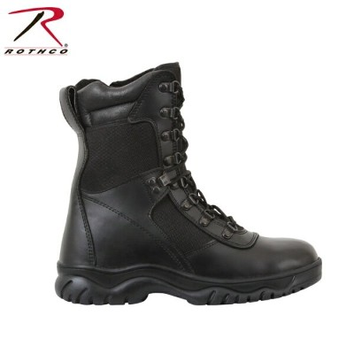 "【P最大43倍・12/11(火)2時迄】ROTHCO FORCED ENTRY 8"" TACTICAL BOOTS WITH SIDE ZIPPER ロスコ サイドジッパー付きブーツ (5053)"