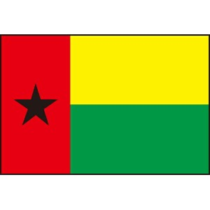 300cm ミニ・連続旗・国旗 ギニアビサウ共和国(Republic of Guinea-Bissau 幾内亜美須)・National flag【応援グッズ】