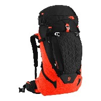 (取寄)ノースフェイス コブラ 52 バックパック The North Face Cobra 52 Backpack Tnf Black/Acrylic Orange Heather