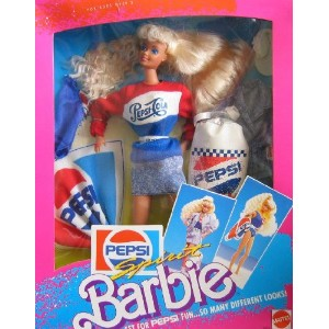 Barbie バービー Pepsi Spirit Set For Pepsi Fun...So Many Different Looks! (1989) 人形 ドール