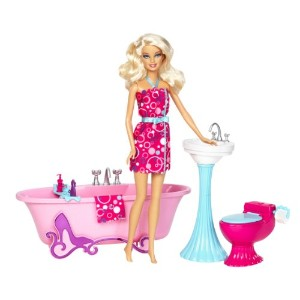 バービー Barbie Glam Bathroom Furniture and Doll Set