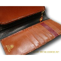 グレンロイヤル / GLENROYAL ■LONG WALLET WITH COVERD ZIP 03-5594 ●016 ( NEW BLACK×OXFORD TAN×BORDEAUX ) [...