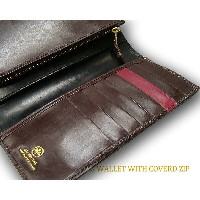 グレンロイヤル / GLENROYAL ■LONG WALLET WITH COVERD ZIP 03-5594 ●015 ( NEW BLACK×CIGAR×BORDEAUX ) [...