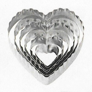 【Wilton】ウィルトン カットアウト 6個セット ハート6-Piece Nesting Fondant Double Sided Cut Out Cutters, Heart 417-2588