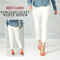 "SALEセール【30%OFF/送料無料】RED CARD レッドカード""Synchronicity""ホワイトデニム(ペイント)RED CARD 12507【郵便局/コンビニ受取対応】"