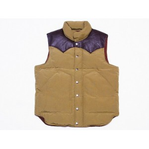 SUGAR CANE[シュガーケーン] レザーヨーク ダウンベスト SC12340 LEATHER YOKE DOWN VEST (BEIGE) 送料無料 代引き手数料無料 【RCP】