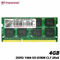 トランセンド TS512MSK64V1N [4GB DDR3 1066 SO-DIMM 204pin CL7 256M×8 永久保証]