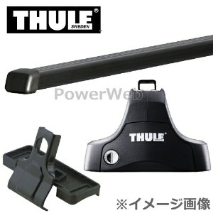 THULE(スーリー) フット:754+バー:761+キット:1187 トヨタ プラッツ 年式:H11/9~H17/11 形式:NCP1#,SCP1# ベースキャリアセット