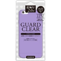LEPLUS iPhone 6a/6 GUARD CLEAR 極厚2.0mm TPUケース パープル LP-IP64GCPP