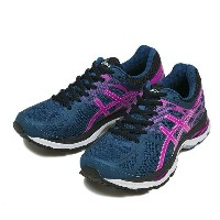 レディース 【ASICS】 アシックス LADY GEL-CUMULUS 17 TJG481 15FW 5335 M.BLUE/PK