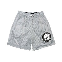 MITCHELL&NESS Reversible Mesh Shorts (NBA/Brooklyn Nets: Grey×Black)ミッチェル&ネス/リバーシブルバスケショーツ
