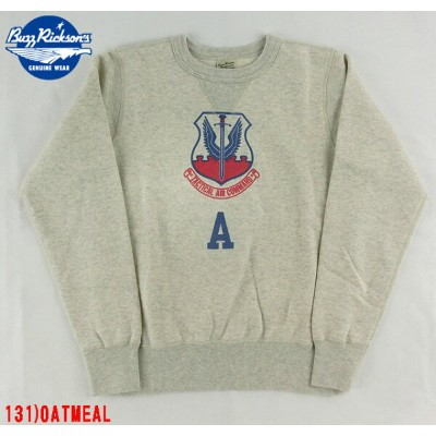 """No.BR66882 BUZZ RICKSON'S バズリクソンズSET-IN CREW SWEAT""""TACTICAL AIR COMMAND"""""""