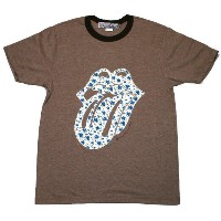 The Rolling Stones / Patch Flower Tee (Coffee)