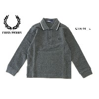 FRED PERRY Kids Long sleeve Twin Tipped Shirt■SY1392_1-MG【 ベビー&キッズ トップス ポロシャツ 長袖 衿付き フレッドペリー】...