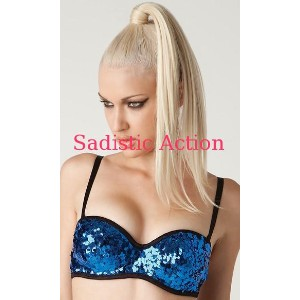 【即納】L.A.Roxx Burlesque Sequin push-up bra in BLUE 【L.A.Roxx (ダンスウェア、レザー、ボンテージ、衣装)】【LA-BRA-51001-BL】