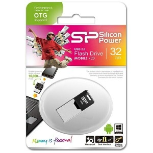 SILICONPOWER microUSB - USB-A 2.0メモリ [Android/Mac/Win/Linux] Mobile X20(32GB) SP032GBUF2X20V1K